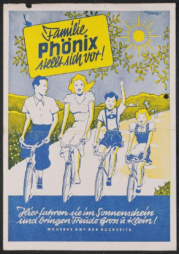 Phönix Fahrräder Werbeblatt 1950er Jahre
