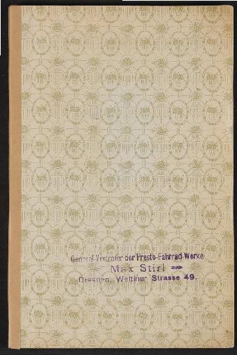 Presto-Werke A.G., Katalog 1912