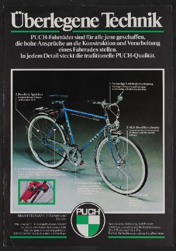 Puch, Steyr Daimler Puch, Werbeblatt 1980er Jahre