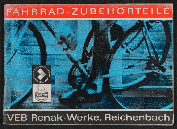 Renak Fahrrad-Zubehörteile Prospekt 1967