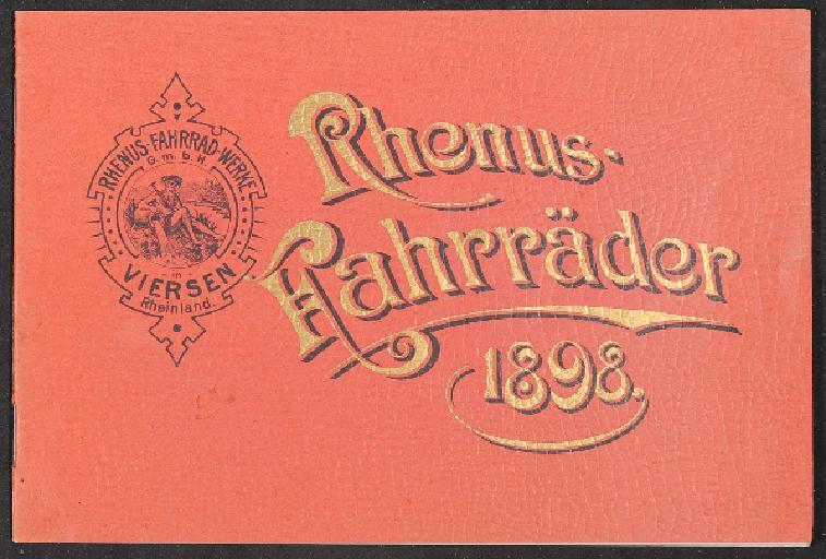 Rhenus Fahrräder Katalog 1898
