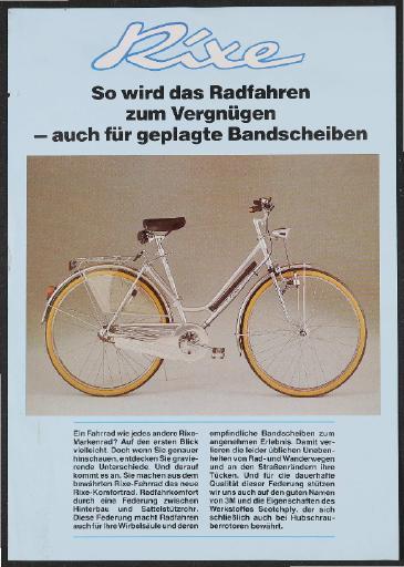 Rixe Komfortrad Werbeblatt 1980er Jahre