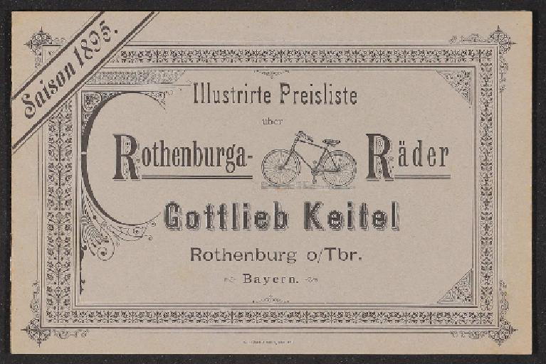 Rothenburga-Räder Illustrirte Preisliste 1895