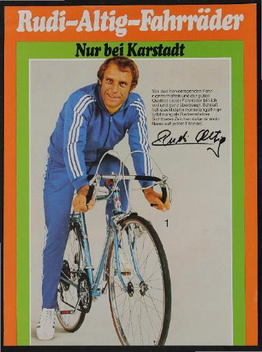 Rudi-Altig-Fahrräder Werbeblatt 1977