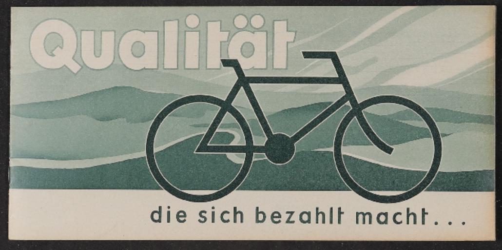 Naumann Fahrräder Katalog 1930er Jahre