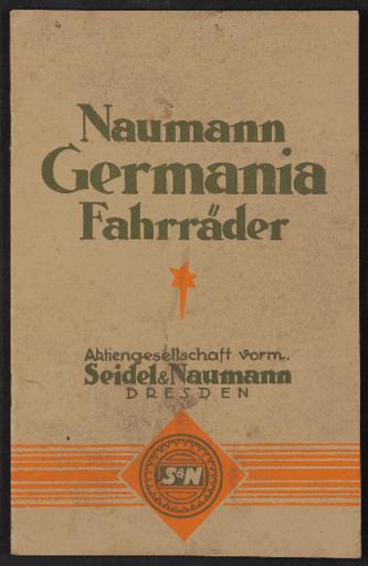 Naumann Germania Fahrräder Katalog 1927