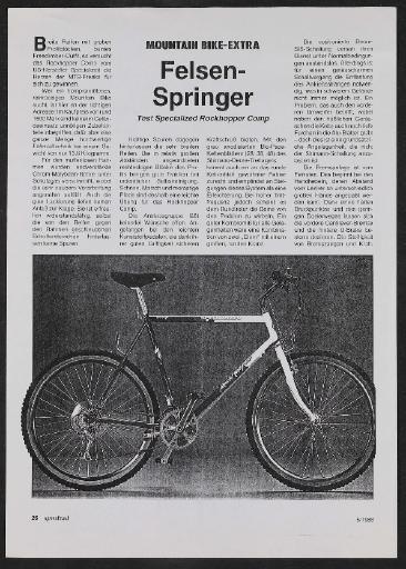 Specialized (USA) Artikel zu Mountainbike Rockhopper Comp 1988