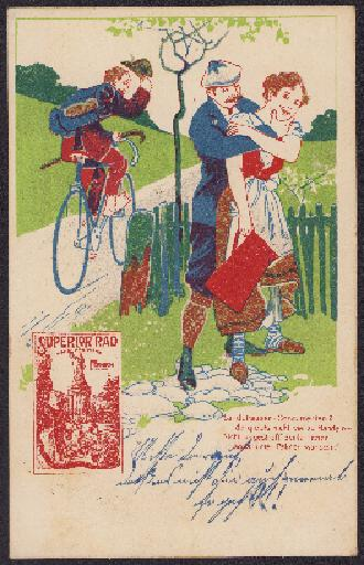 Superior-Fahrräder Postkarte 1904