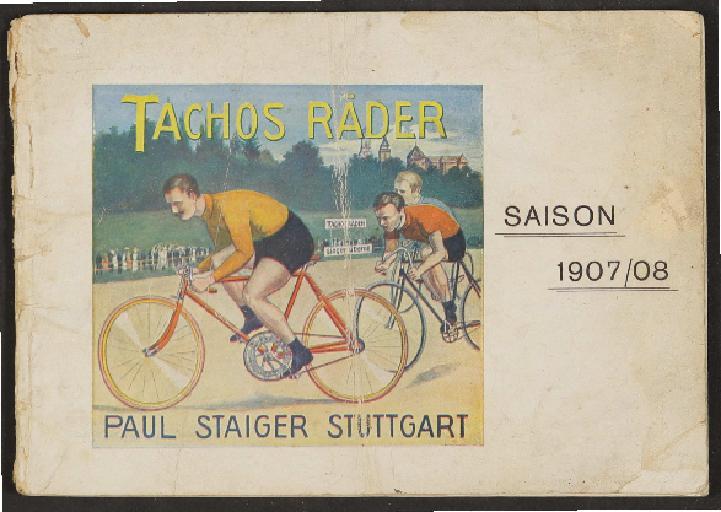 Tachos Räder, Katalog, 1907