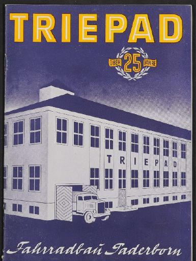 Triepad Fahrradbau Paderborn, Katalog, 1952