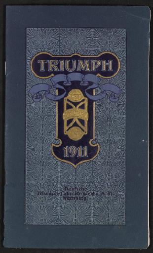 Triumph Fahrräder Katalog 1911