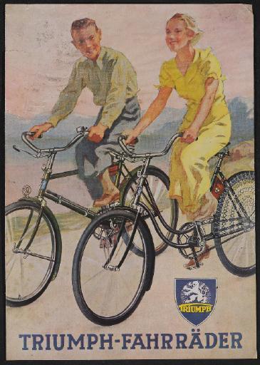 Triumph Fahrräder Prospekt 1930er Jahre