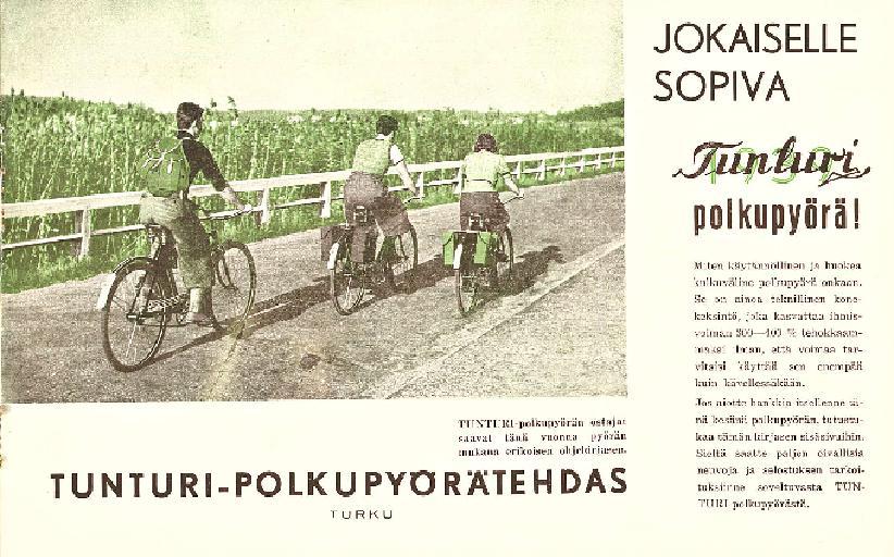 Tunturi polkupyorä 1939