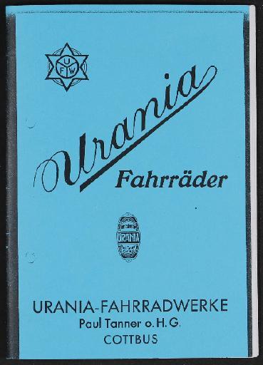 Urania Markenrad Katalog Kopie 1920er Jahre