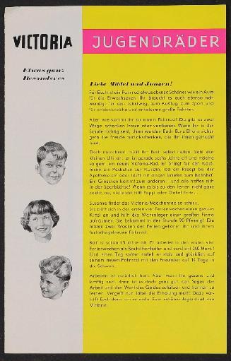 Victoria Jugendräder Prospekt 1957