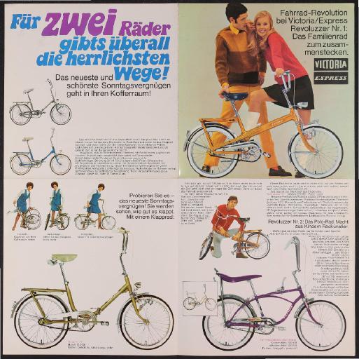 Victoria Markenfahrräder Faltblatt 1970er Jahre