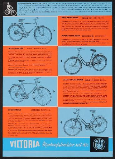 Victoria Markenfahrräder Werbeblatt 1965