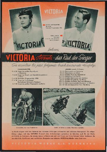 Victoria Markenrad Werbeblatt 1954