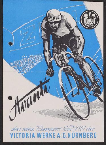 Victoria, Avanti Rennsportrad, Werbeblatt 1951