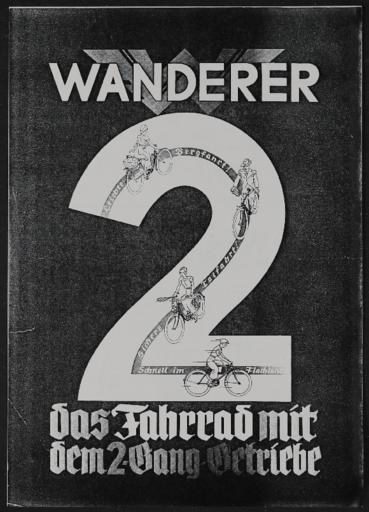 Wanderer 2 Gang Werbeblatt 1930er Jahre