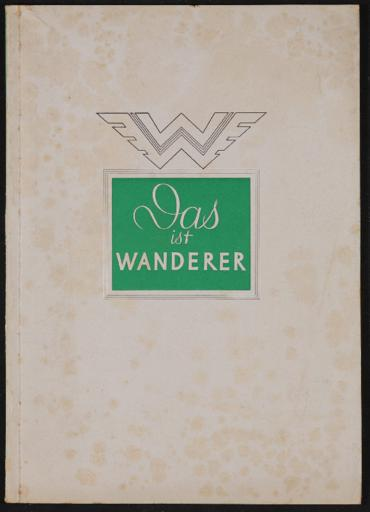 Wanderer Broschüre 1940
