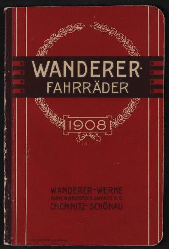Wanderer Fahrräder Katalog 1908