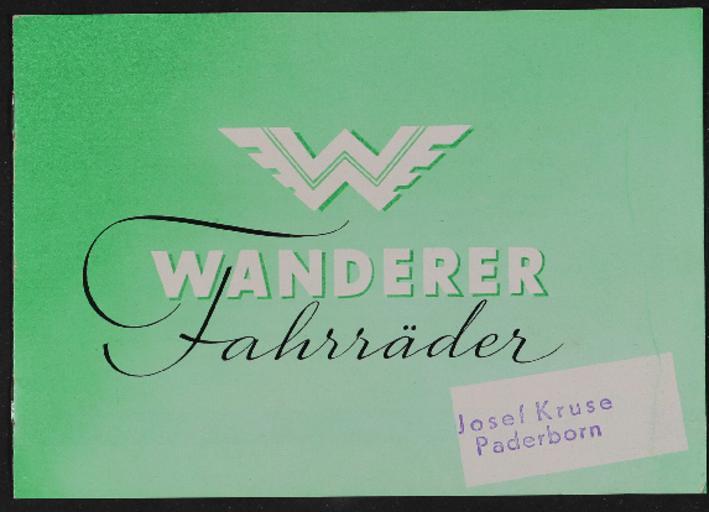 Wanderer Fahrräder Katalog 1950