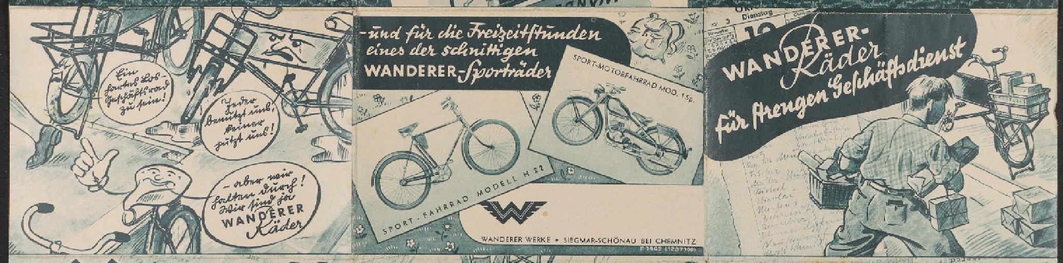 Wanderer Faltblatt 1930er Jahre