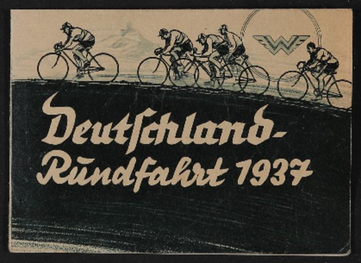 Wanderer Faltblatt Deutschland Rundfahrt 1937