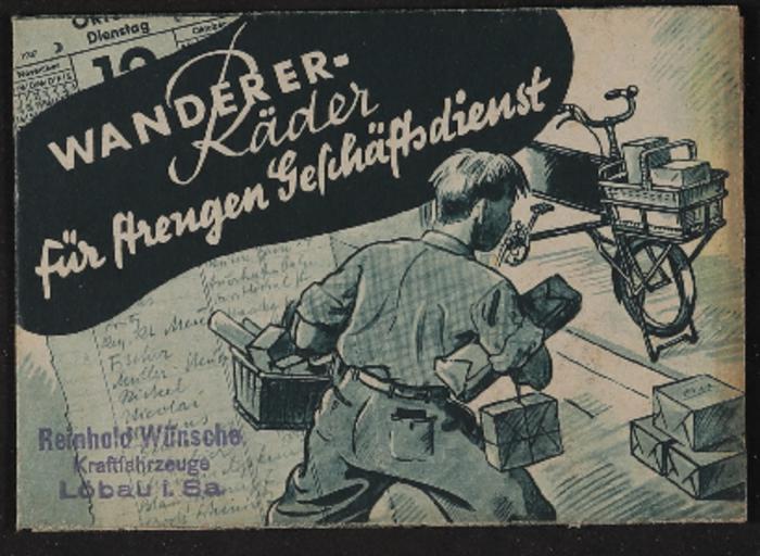 Wanderer Geschäftsräder Faltblatt 1937