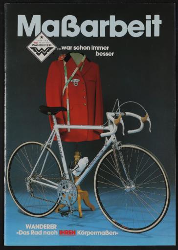 Wanderer Maßrad Katalog 1982