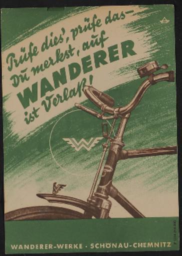 Wanderer Werbeblatt 1935