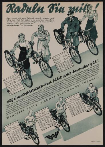 Wanderer Werbeblatt 1937