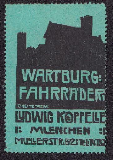 Reklamemarke Wartburg 1910er Jahre