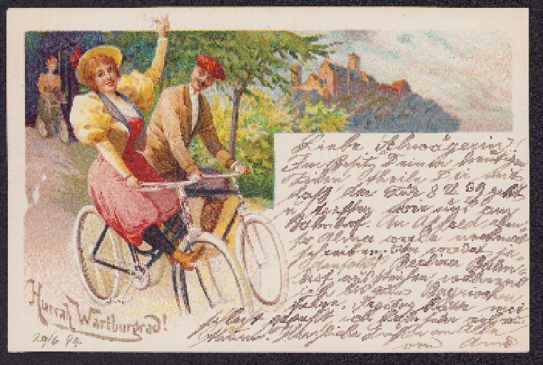 Wartburg Postkarte 1899