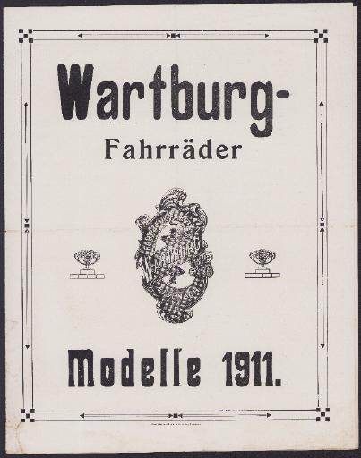 Wartburg-Fahrräder Prospekt 1911