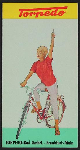 Torpedo Fahrräder Faltblatt 1970er Jahre