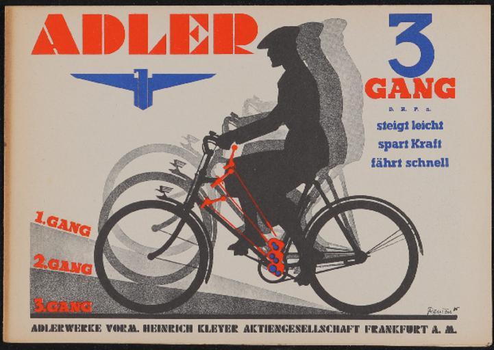 Adler 3 Gang Faltblatt 1935