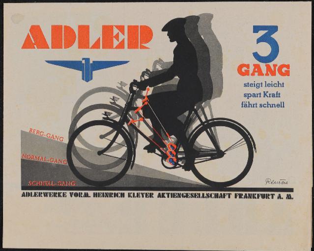Adler 3 Gang Faltblatt 1936