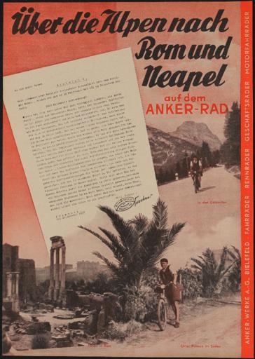 Anker Tourenrad Werbeblatt 1937