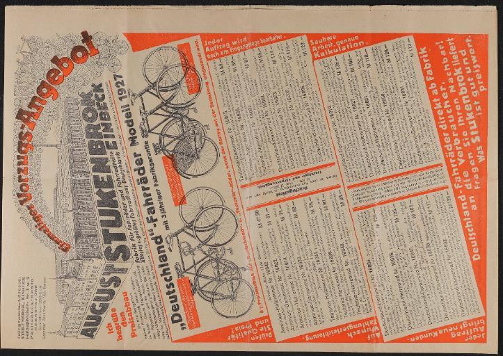 August Stukenbrok Einbeck Faltblatt 1927