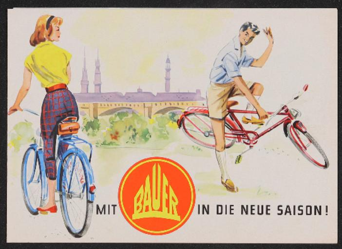 Bauer in die neue Saison Faltblatt 1950er Jahre