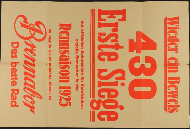 Brennabor Plakat 1925