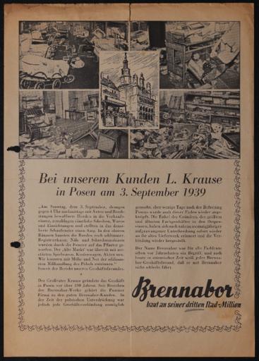 Brennabor Protestschrift 3.9.1939