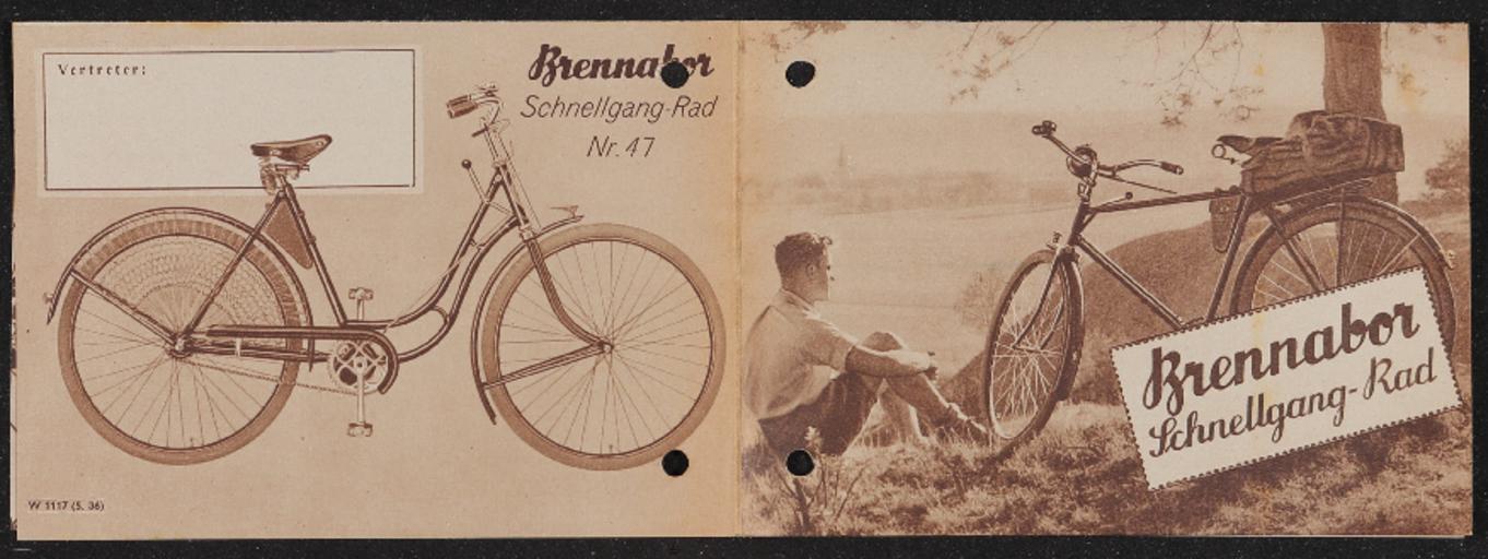 Brennabor Schnellgang-Rad Faltblatt 1936