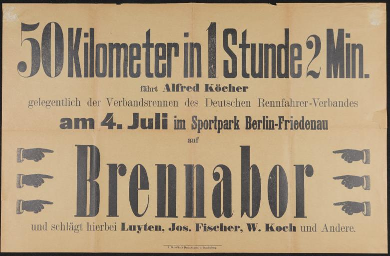 Brennabor Werbeplakat 1900er Jahre