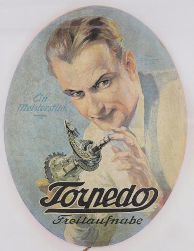 Torpedo Freilaufnabe  Plakat 1930er Jahre