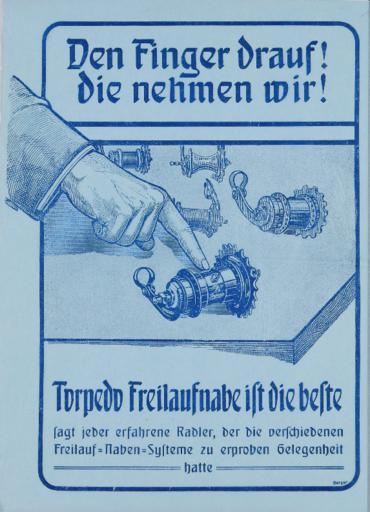 Torpedo Freilaufnabe Werbeblatt 1920er Jahre