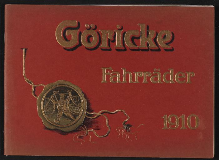 Göricke Fahrräder Katalog 1910