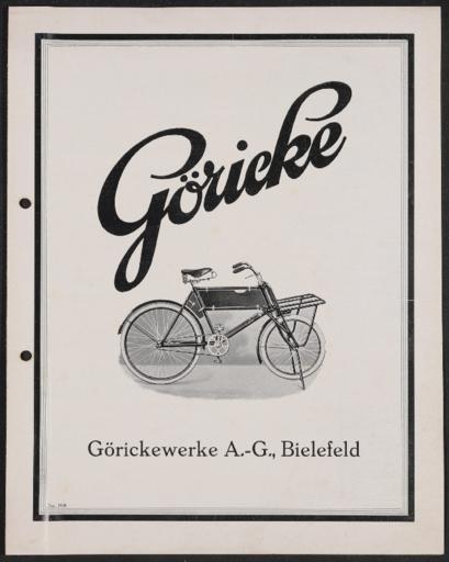 Göricke Geschäftsräder Prospekt 1928